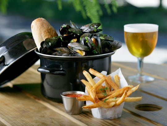 Brugge Brasserie's Moules Frites and Tripel de Ripple