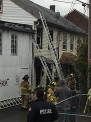 Fire crews respond to a fire at 538 Arnold St., Lebanon,