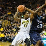 Trey Dickerson wound up playing 146 minutes as a Hawkeye, but just 23 in Big Ten play. He scored 43 points with 18 assists.