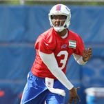 Buffalo Bills quarterback E.J. Manuel practices during minicamp Wednesday in Orchard Park.