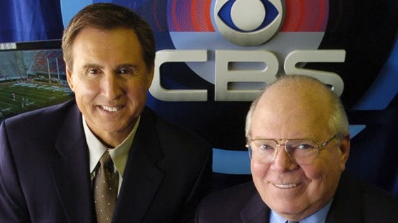 CBS' Gary Danielson, left, and Verne Lundquist are the main SEC announcing team.