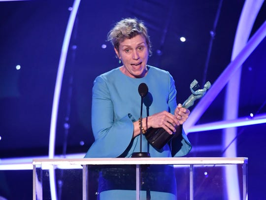 Frances McDormand won best actress for 'Three Billboards