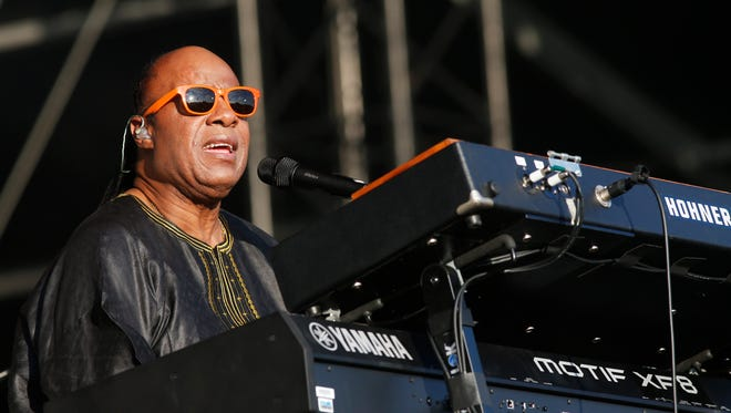 Stevie Wonder performs at the Calling festival on June 29 in London. Wonder performed Thursday at Madison Square Garden in New York.