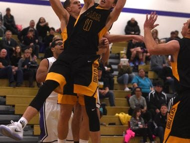 Galena's Moses Wood grabs a rebound against Spanish Springs last month.