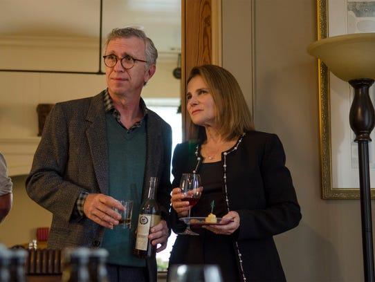 Steve Coulter as Reg and Tovah Feldshuh as Deanna in