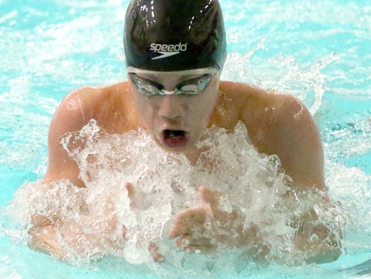 Menononee Falls/Sussex/Germantown's Ming Ong swims