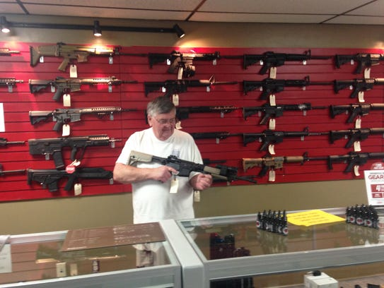 Knoxville Tactical store owner Jim Quinn has a wide