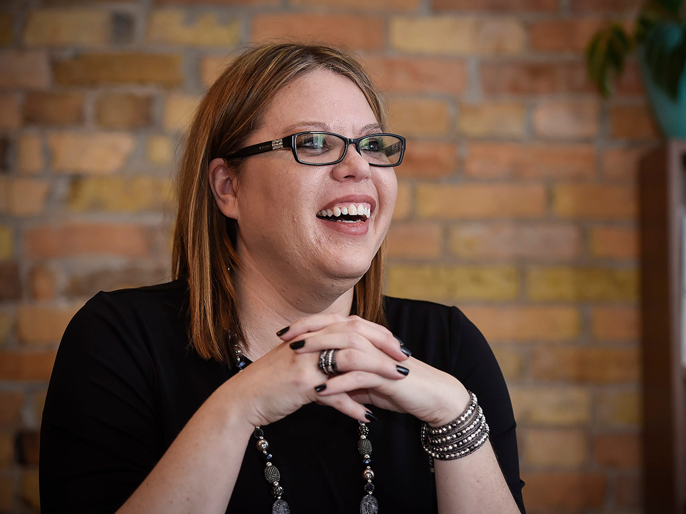Heather Hoskins is the controller at GeoComm. She is shown Wednesday, Dec. 13, in St. Cloud.