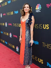 Mandy Moore attends the NBC 'This Is Us' Season 2 premiere