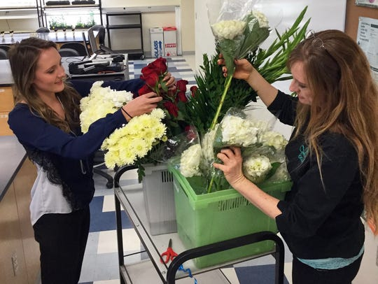 New Mexico State University Floriculture Program student