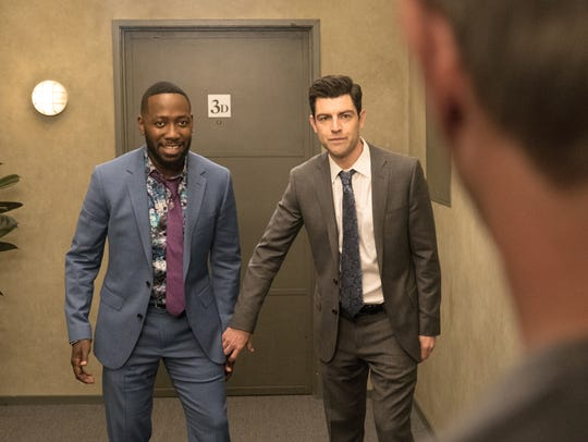 Winston (Lamorne Morris), left, and Schmidt (Max Greenfield)