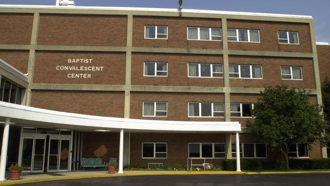 The Baptist Convalescent Center's front entrance in Newport is off Main Street.