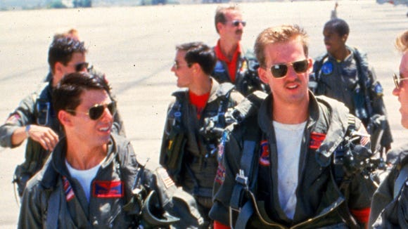 "Tom Cruise (from left) and Anthony Edwards in ""Top"