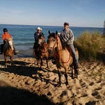 The view from Kristen Humble's horse Carlos as she participated in the Michigan Trail Riding Association trip this summer.