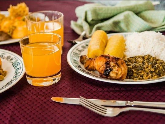 Burundian cuisine from Baobab Fare, a restaurant opening