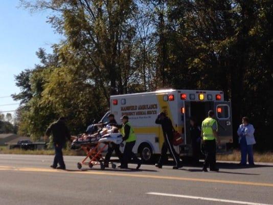 Crash at Ohio 39 and Myers Road