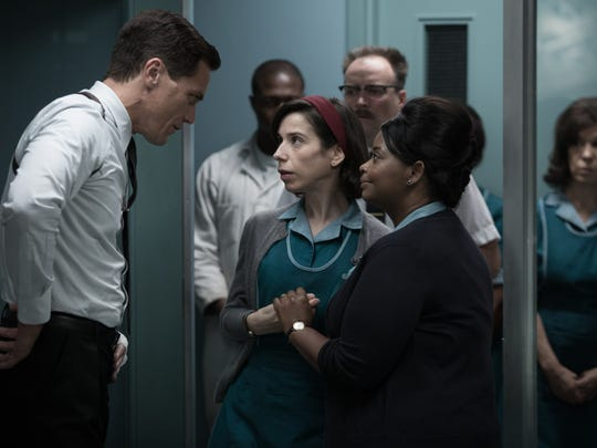 """Michael Shannon, Sally Hawkins and Octavia Spencer in """"The Shape of Water."""""""