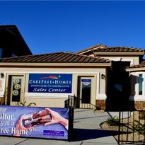 Shown is a CareFree Homes' model house at 13457 Doncaster St. in the Mission Ridge subdivision along Eastlake Drive in far East El Paso County.