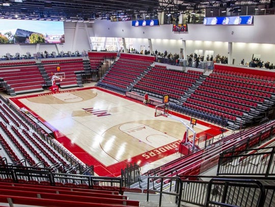 The new basketball arena at NJIT