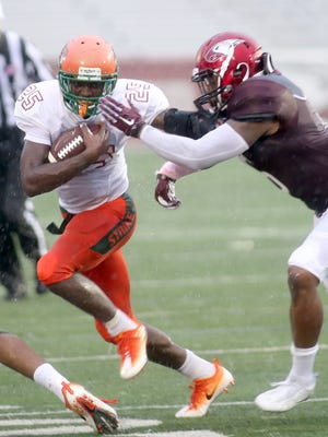 FAMU running back Devin Bowers rushed for 52 yards in the Rattlers' 17-13 loss to NCCU.