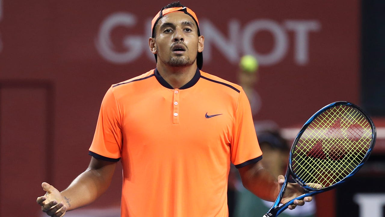 Australian tennis player Nick Kyrgios has been suspended for the remainder of the season and fined $25,000 for 'conduct contrary to the integrity of the game.'