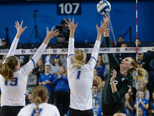 20171202 NCAA Volleyball - Michigan State v Creighton