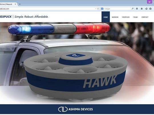This screen shot of Ashima Devices website shows the type of drone it makes.