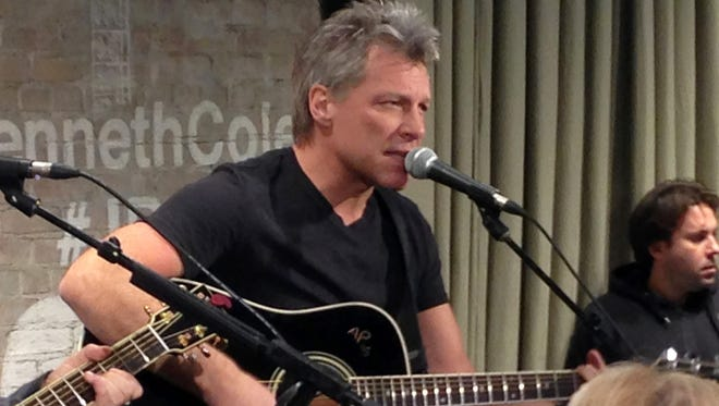 Bon Jovi performs in New York on Thursday, Feb. 12, 2015 as part an acoustic music series, Common Thread, an initiative created by the award-winning singer-songwriter, and fashion designer Kenneth Cole.