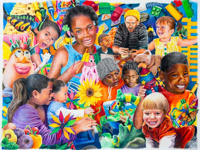 Sonja Oldenburg's artwork in honor of Betty Brinn Children's