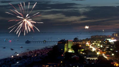 Fort Myers Beach annual birthday bash and New Year's Eve party includes fireworks.