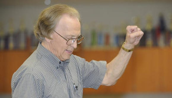 Tulare Community Band Directot Bill Ingram.