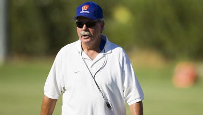 Jim Ewan said he was asked to step down as head football coach at Westwood High on same day his team was to take on rival Mountain View, Oct. 21, 2016.