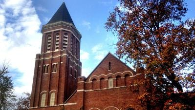 The former historic First United Methodist Church property in downtown Murfreesboro may emerge with a preserved sanctuary and bell tower that's part of a redevelopment plan that includes a hotel, condos, parking garage, stores and a restaurant.