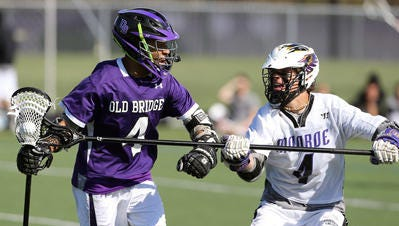 Monroe's Jordan Perry (4) is the Home News Tribune All-Area Boys Lacrosse Player of the Year.