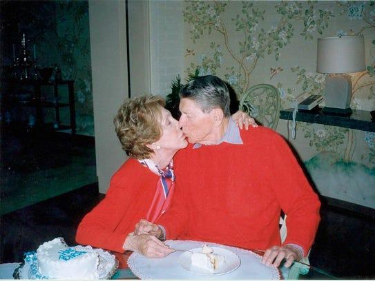 Nancy and Ronald Reagan celebrate his 89th birthday