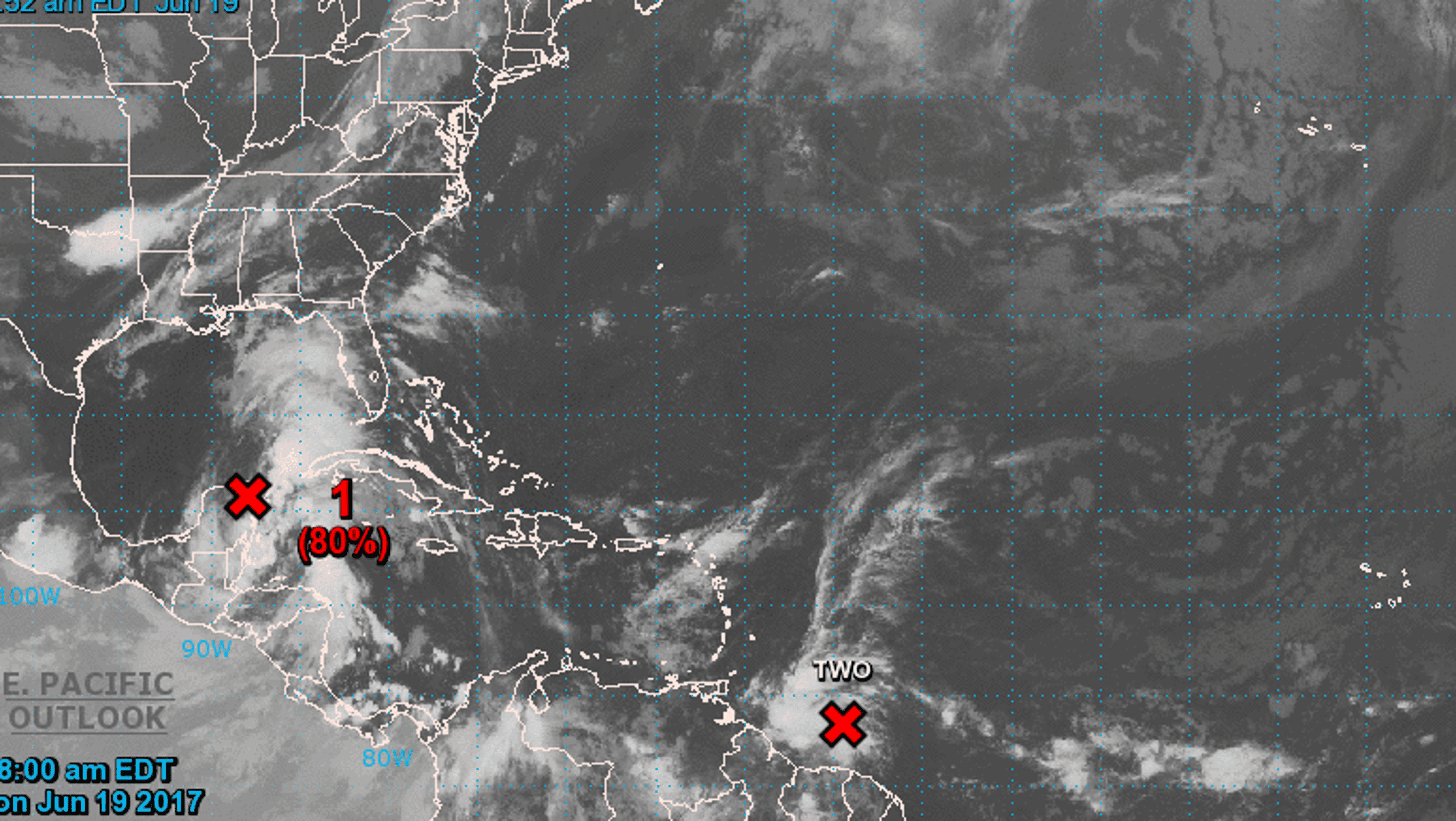 Tropical storms likely to form in Gulf, Atlantic
