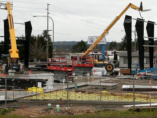 North Kitsap Fishline construction in Poulsbo on Friday, Jan. 19, 2018.