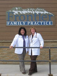 Family Nurse Practitioners Valerie Anderson, left,