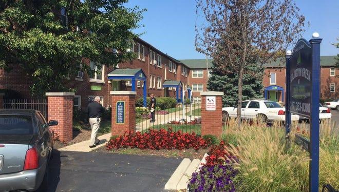A 64-year-old woman was shot at killed Wednesday afternoon at Arlington Green apartments