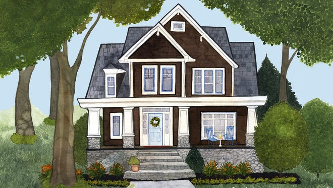 This is an artist's rendering of what Bampa's House might look like.