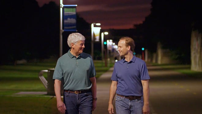 Gov. Snyder and Lt. Gov. Calley in a new ad from Making Government Accountable