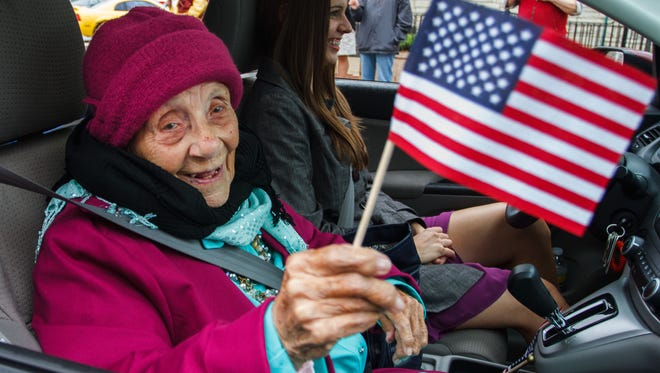 Margaret Zerwekh, well-known in Delafield and throughout Lake Country, died May 11 at age 98. She is pictured riding in the 2015 Memorial Day parade through downtown Delafield en route to Cushing Memorial Park for the 100th anniversary celebration and rededication of Cushing Monument and Cushing Memorial Park. Zerwekh was instrumental in getting First Lt. Alonzo Cushing, a Delafield native, awarded the Medal of Honor for his heroic actions at the Battle of Gettysburg.