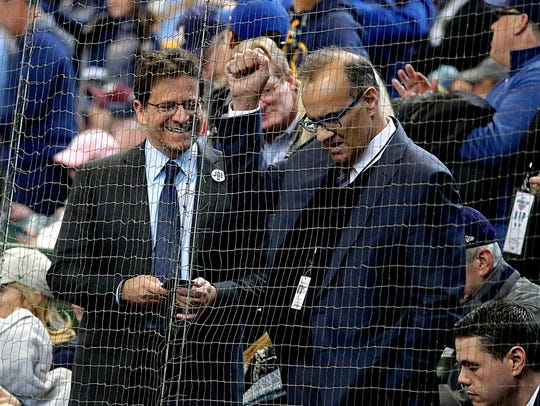 Brewers owner Mark Attanasio hosts Joe Torre in his