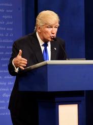 Alec Baldwin portrays Donald Trump on the campaign