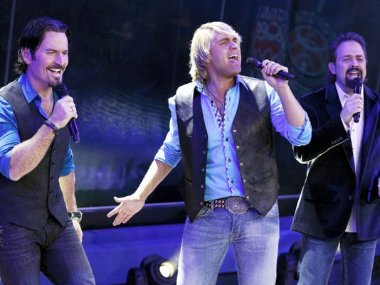 The Texas Tenors (from left), JC Fisher, Marcus Collins and John Hagen, will perform at American Music Theatre in Lancaster on July 10.
