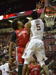 Malik Beasley soars for two points as FSU beat Nicholls