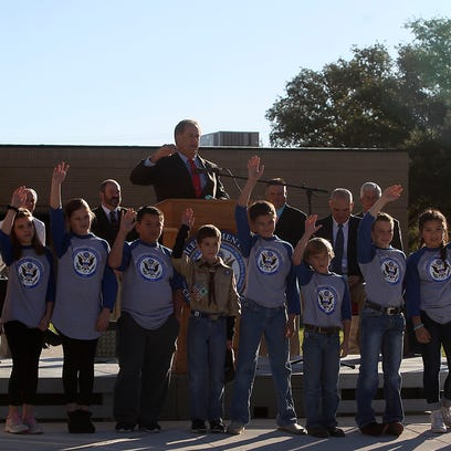 Miles Student Council members and Cary Houston, school