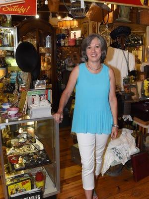 Monica Jones, 57, an antique dealer from Hyde Park, pictured at the Hyde Park Antique Center.