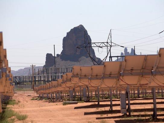 The Kayenta Solar Project facility in Kayenta, Arizona
