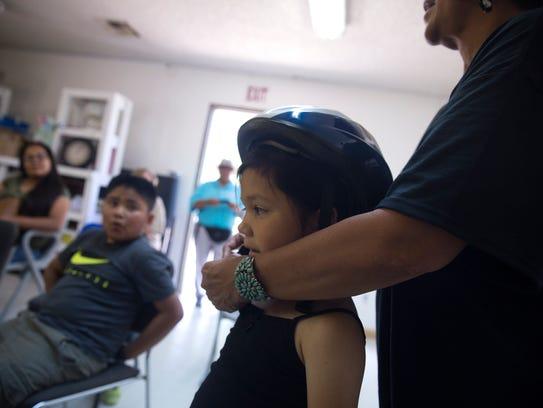 Herlinda Mann, a health coordinator with Navajo First,